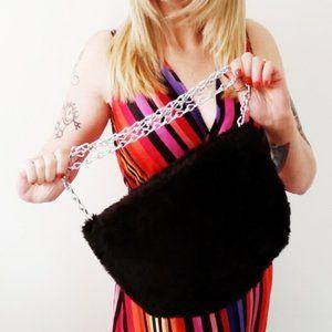 Refashioned Faux Fur Crossbody Bag